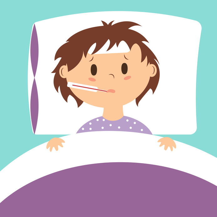 Guidelines for keeping a. Flu clipart sick kid