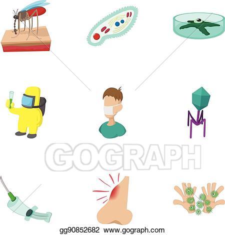 Vector stock symptoms of. Fever clipart malaria symptom