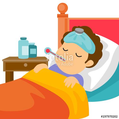Flu clipart ill man. Sick caucasain white with