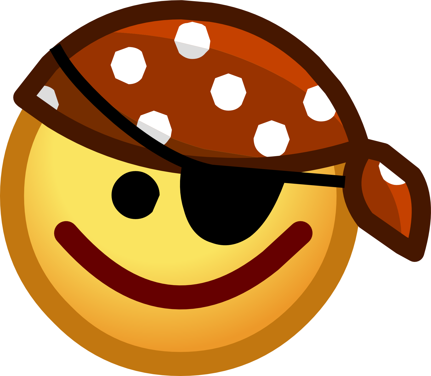List of emoticons club. Waves clipart smile