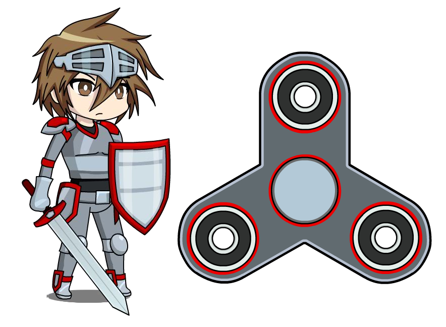 Gaming clipart game spinner. Naito anime fidget by