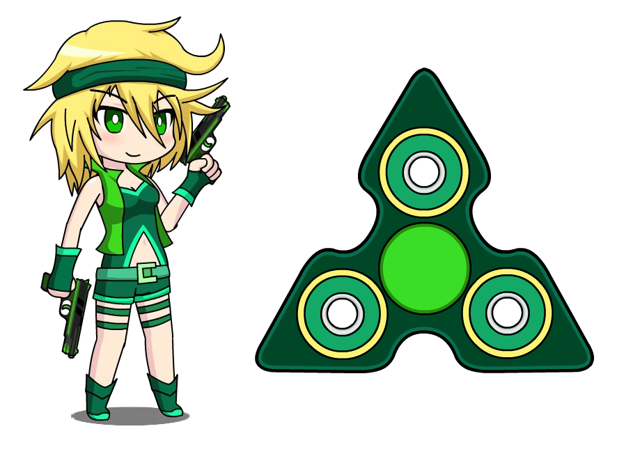 Jessa anime fidget by. Gaming clipart game spinner