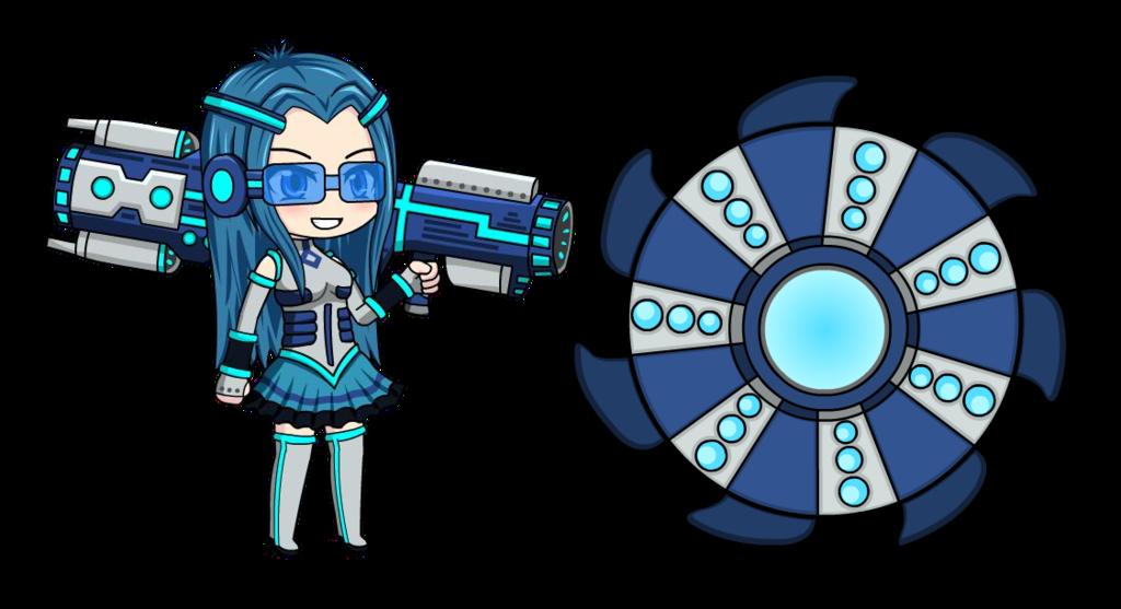Blaster evylln anime fidget. Gaming clipart game spinner