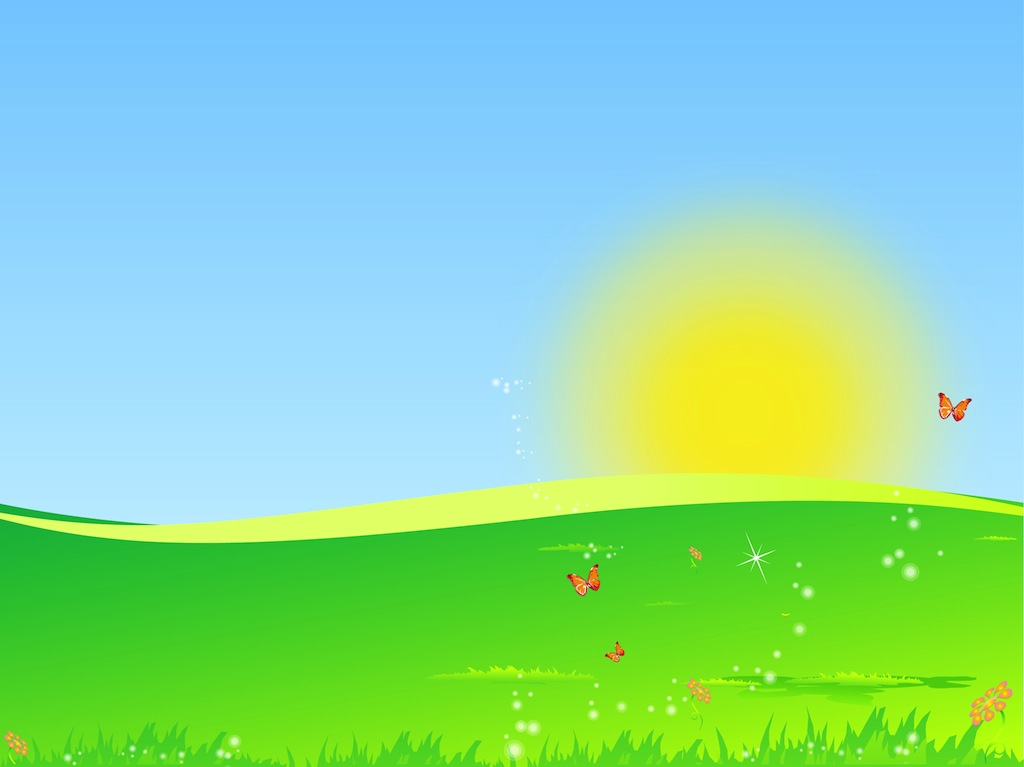 Free field cliparts download. Sunny clipart background