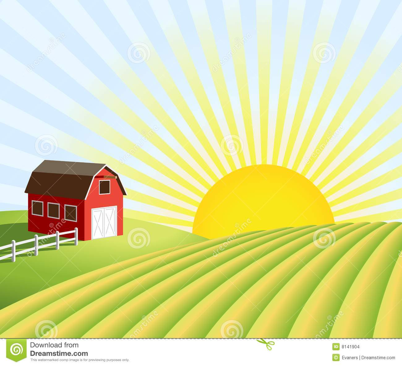 Farmer in . Field clipart