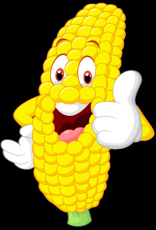 Funny corn clip art. Fruits clipart smiley