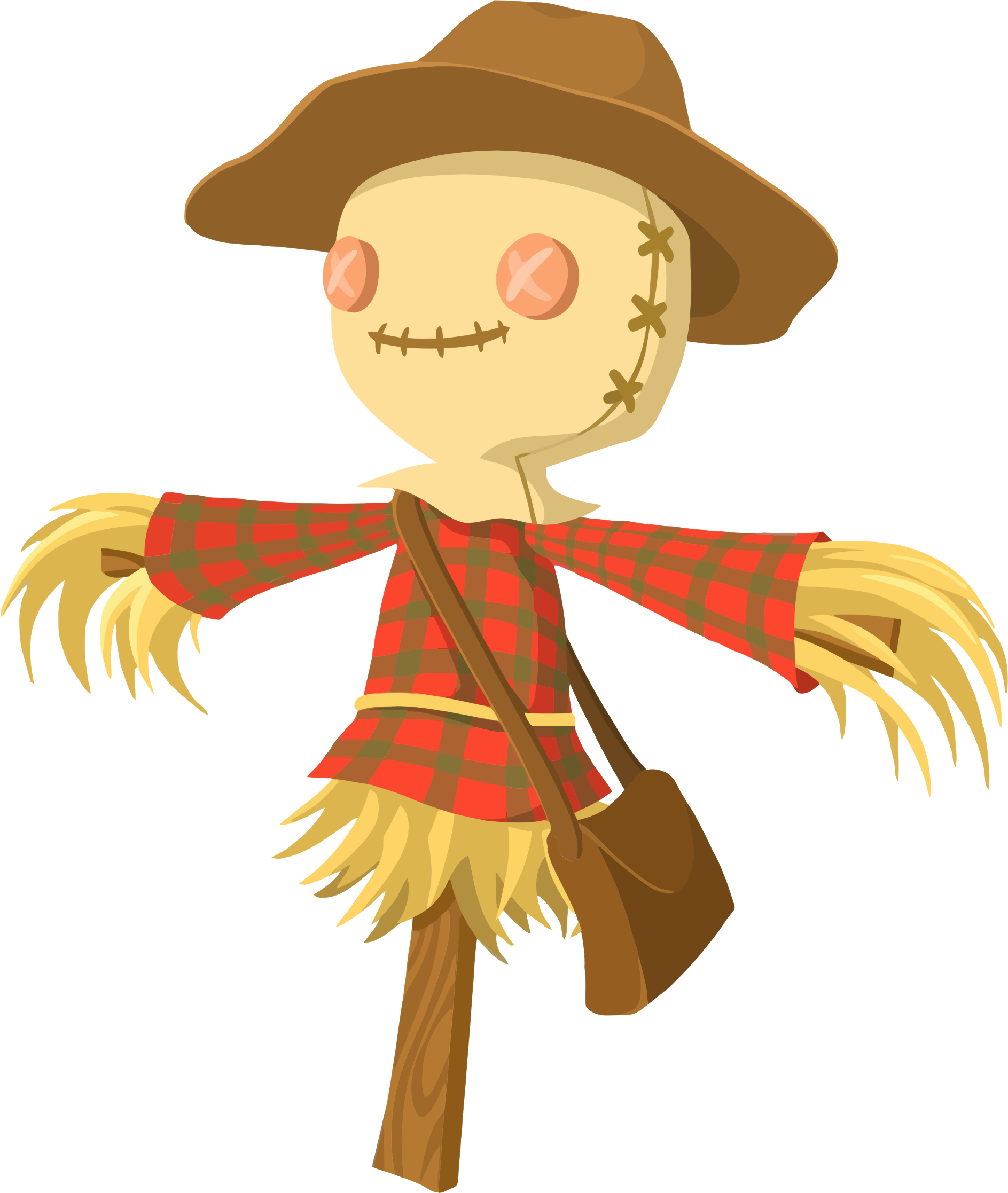 Cartoon big image png. Scarecrow clipart field clipart