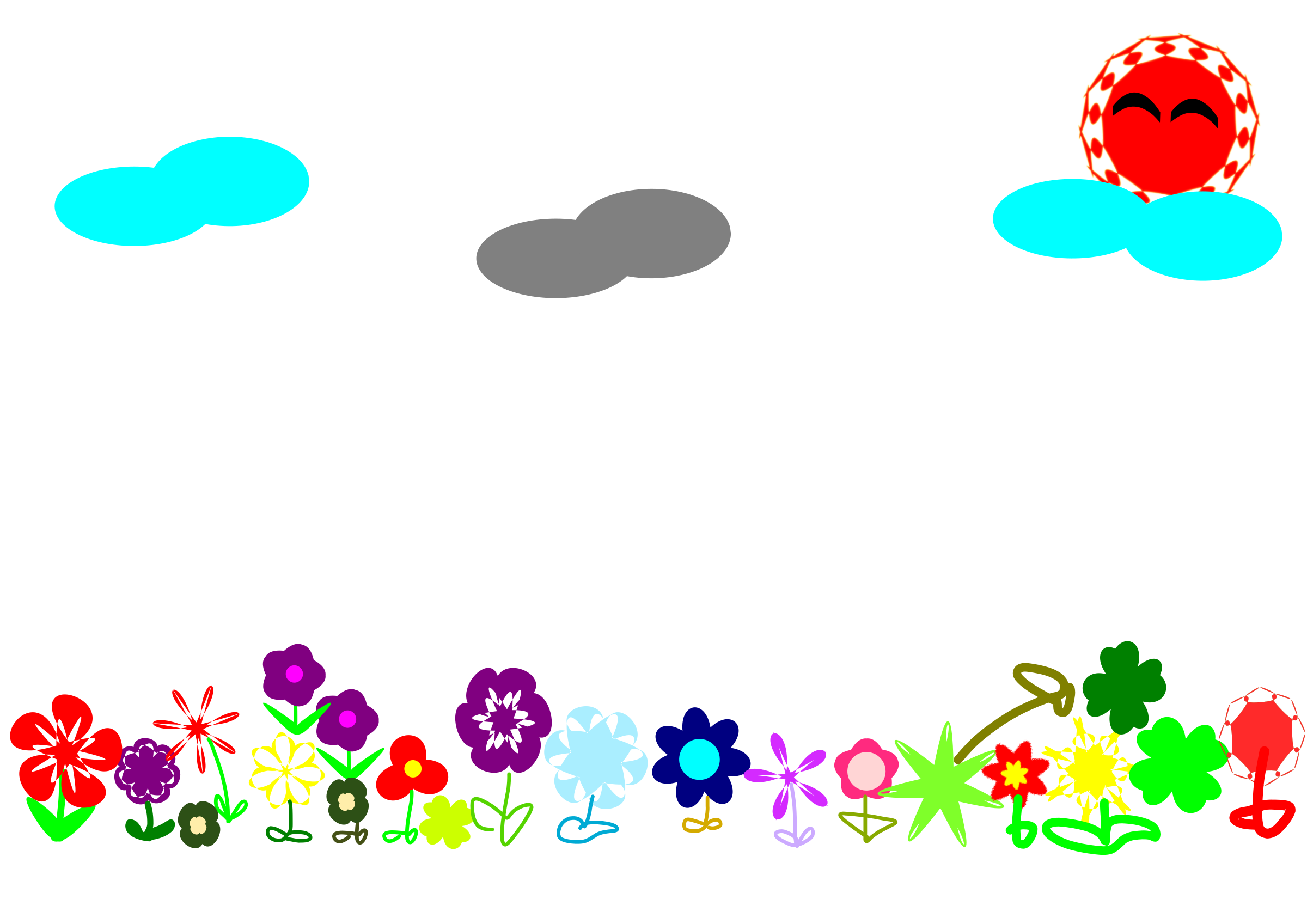 Outside clipart field flower. Big image png