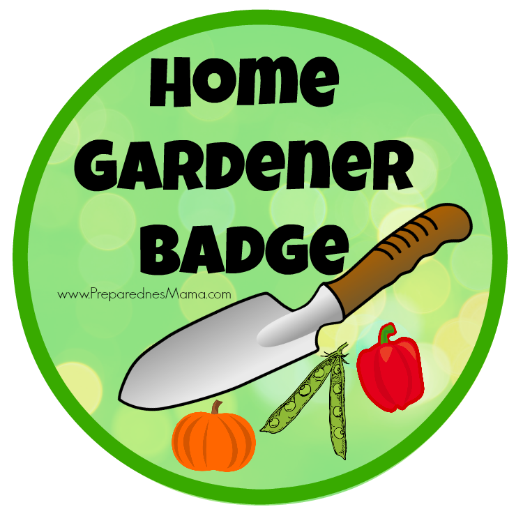 Home gardener badge from. Gardening clipart kitchen garden