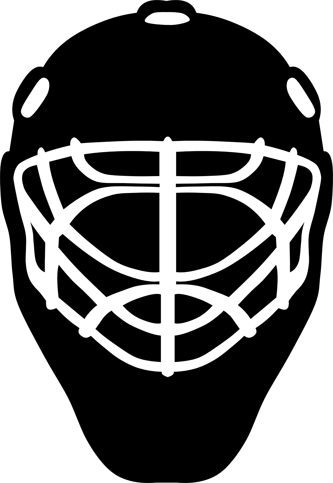 Goaltender mask hockey helmets. Football clipart goalie