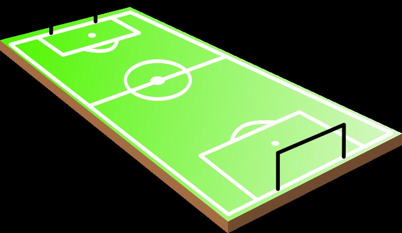 Field clipart footbal. Soccer football