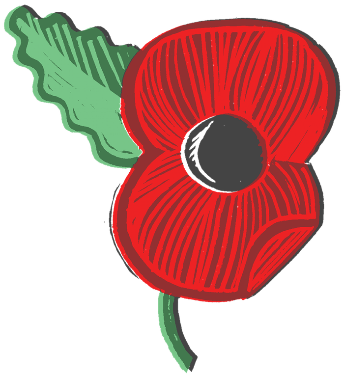 Pinart memorial day salute. Poppy clipart ww1