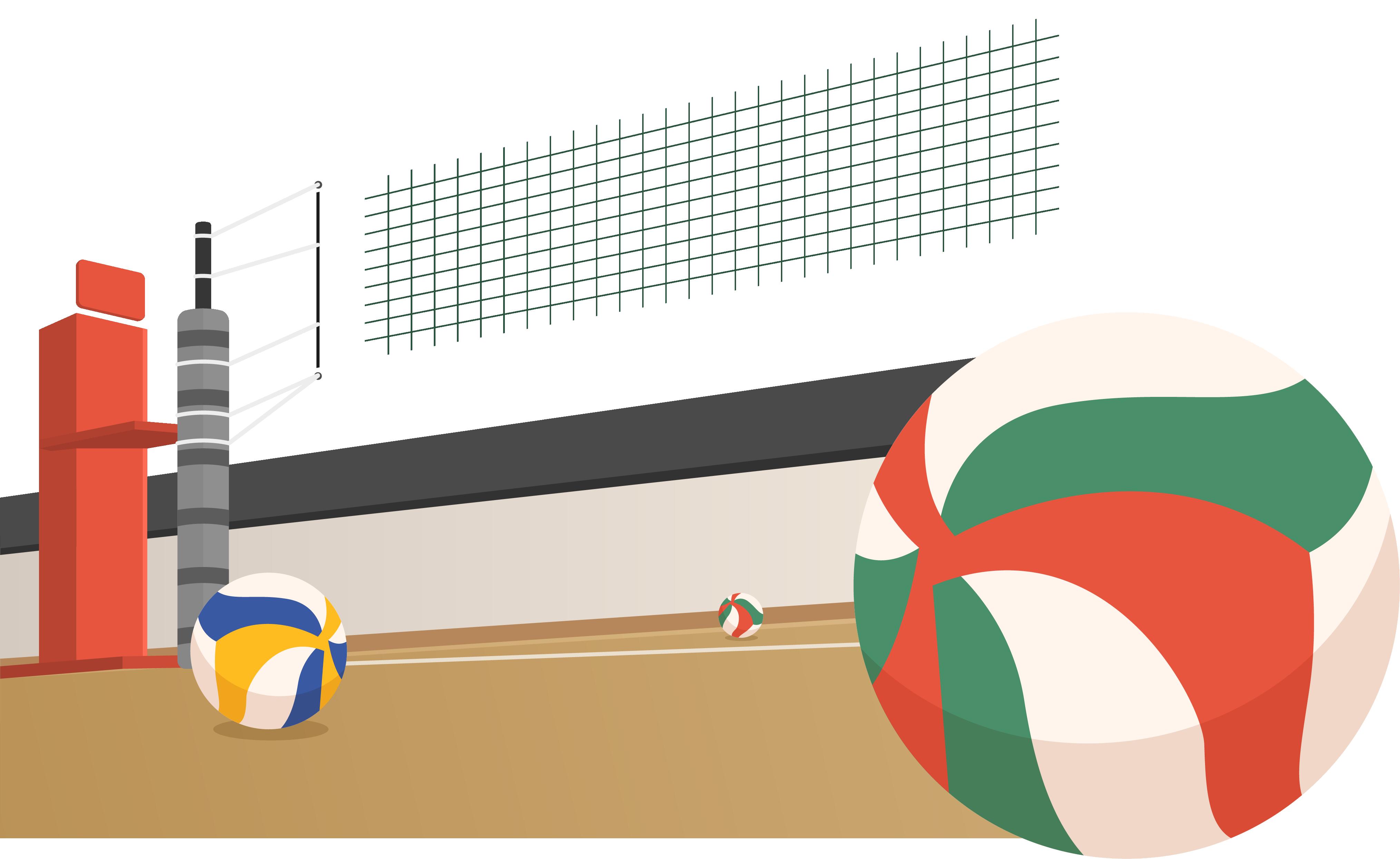 Beach sport transprent png. Volleyball clipart field