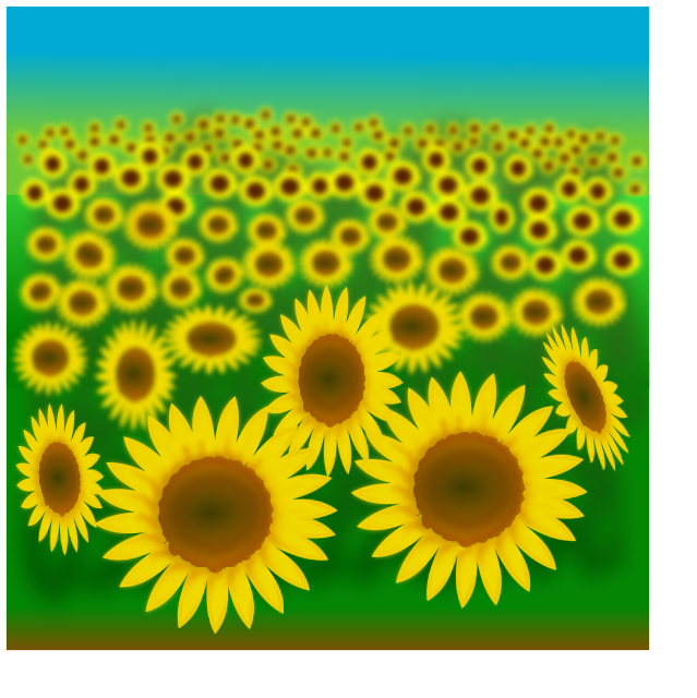 Field clipart sunflowers. Sunflower plants flowers s