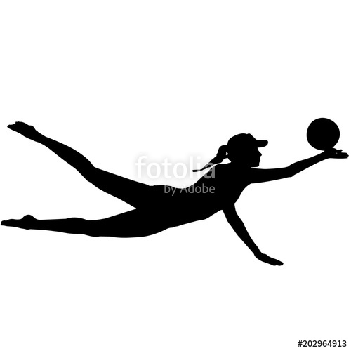 Volleyball clipart move. Woman beach silhouette female