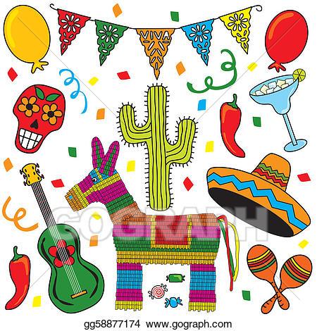 Fiesta clipart. Clip art royalty free