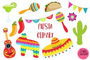 Fiesta clipart. Pattern set illustrations creative