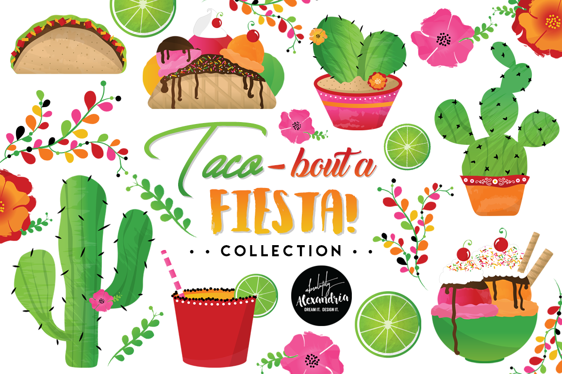 Taco bout a graphics. Fiesta clipart