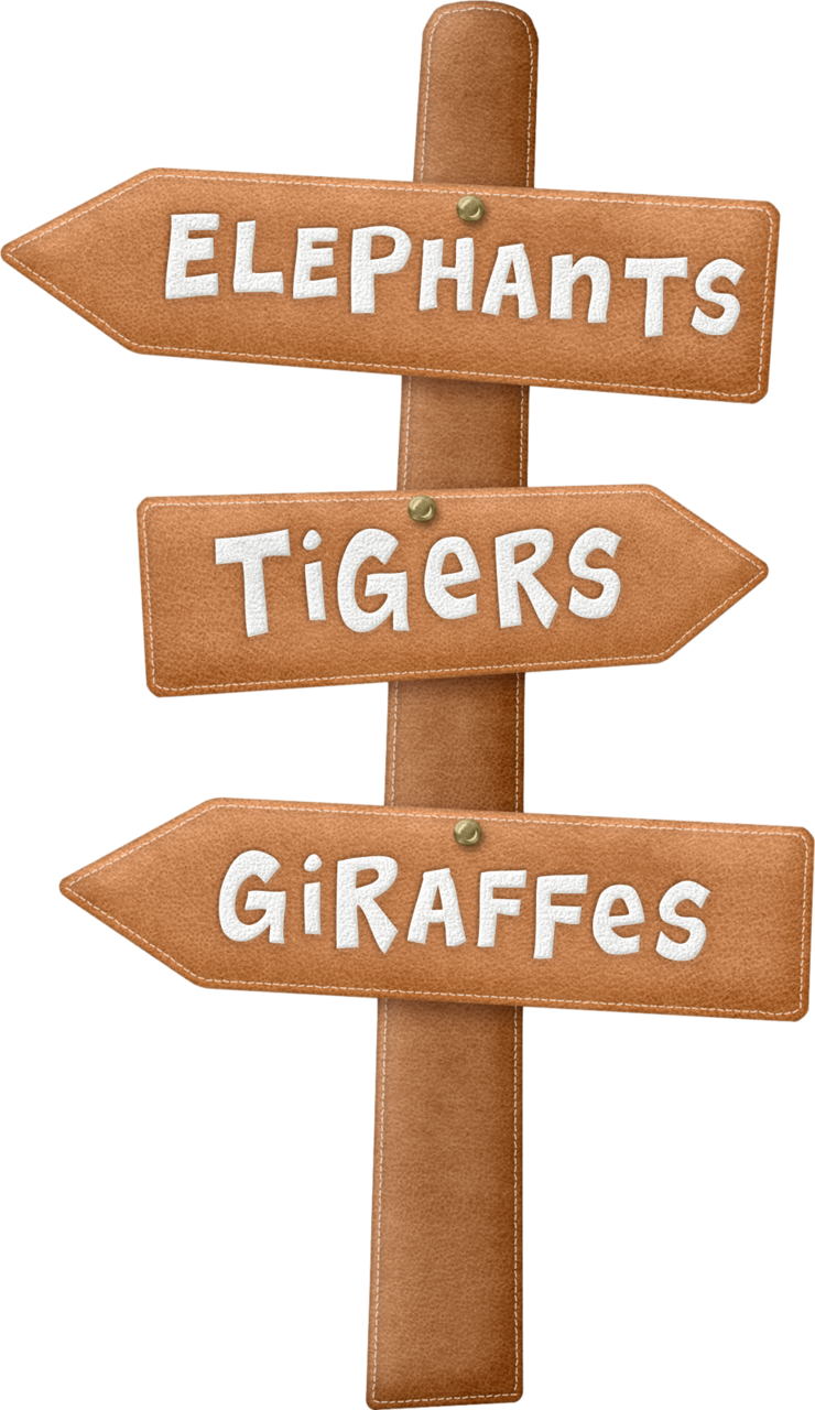 Jungle clipart sign board.  zoo safari i