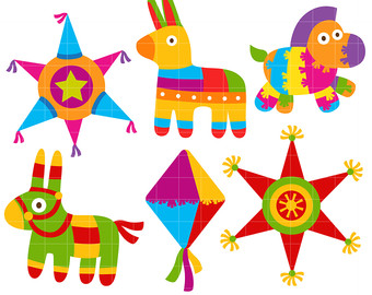 Mexican clipart pinata. Free fiesta download best