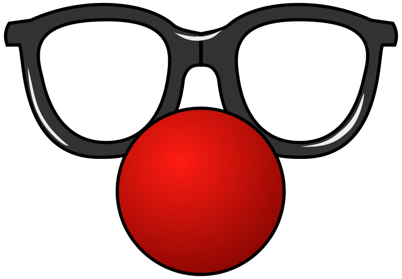 Glasses clipart pop. Funny clown free circus