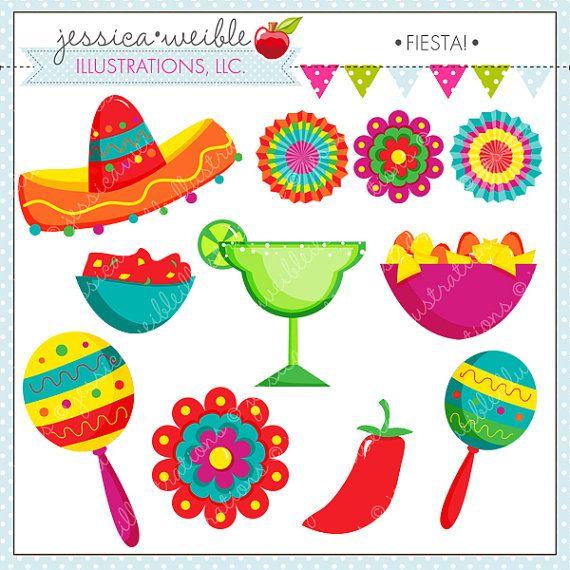 Cute digital spanish mexican. Maracas clipart fiesta hat