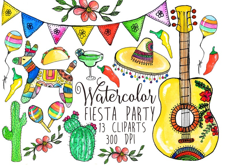Pinata clipart themed. Fiesta mexican clip art