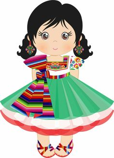 best dolls images. Pajamas clipart little girl mexican