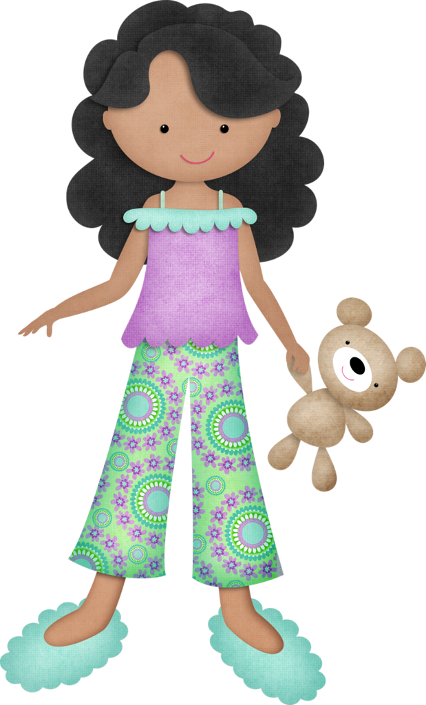 Pajamas clipart pj day. Kmill darkhairgirl png pinterest