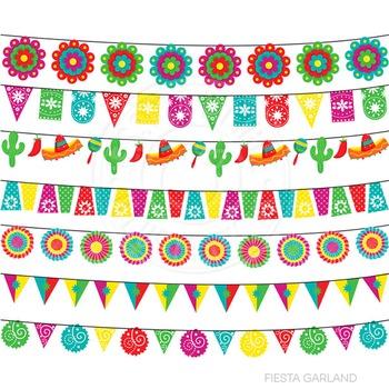 Maracas clipart cute. Fiesta garland digital cinco