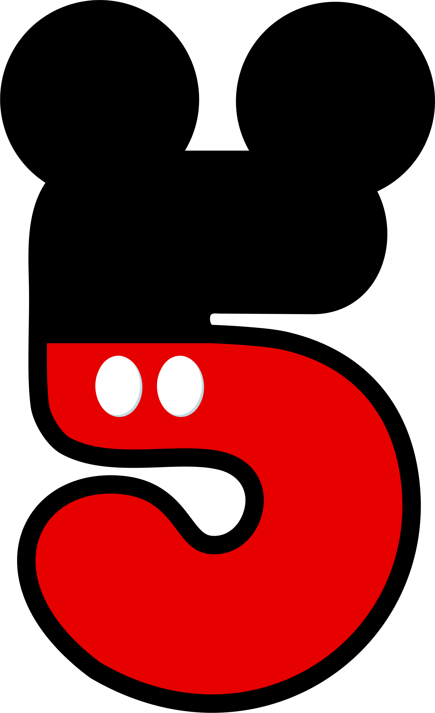 Number 3 Clipart Mickey Mouse  Number 3 Mickey Mouse