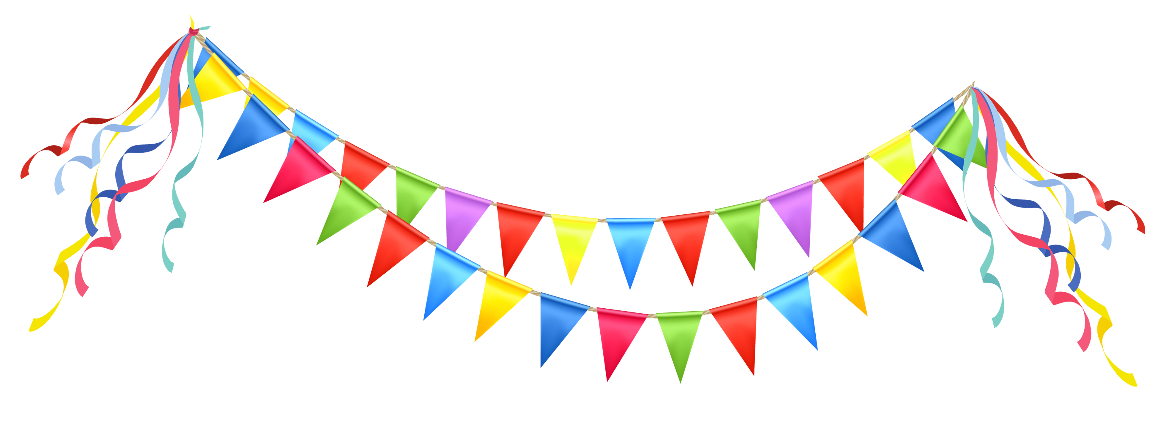 Parties free download clip. Garland clipart streamer
