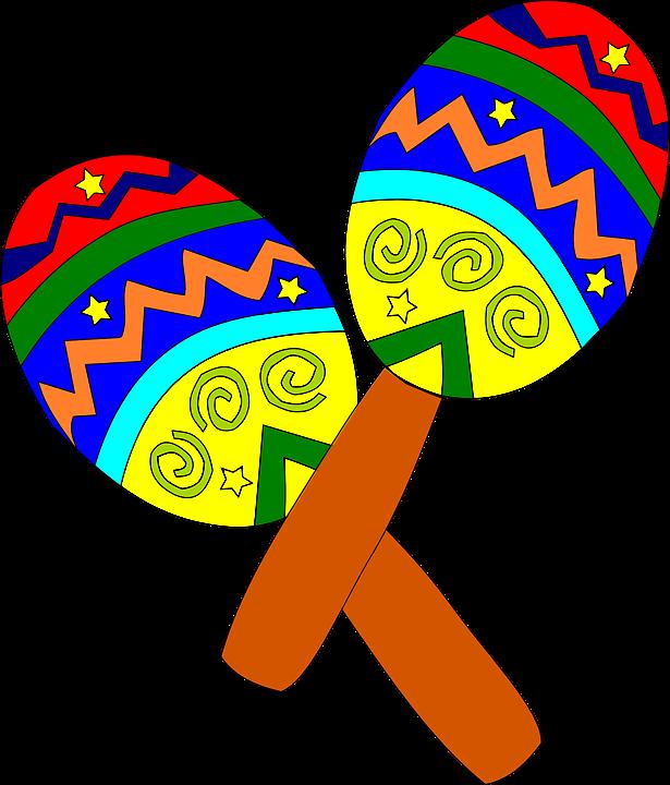 Maracas clipart fiesta hat. Instrumentos musicais pinterest mexican
