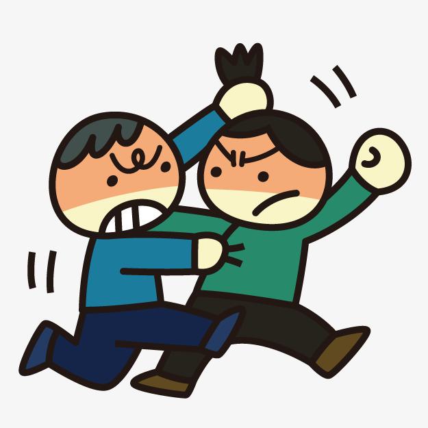 Fight clipart. Cartoon villain fighting photos