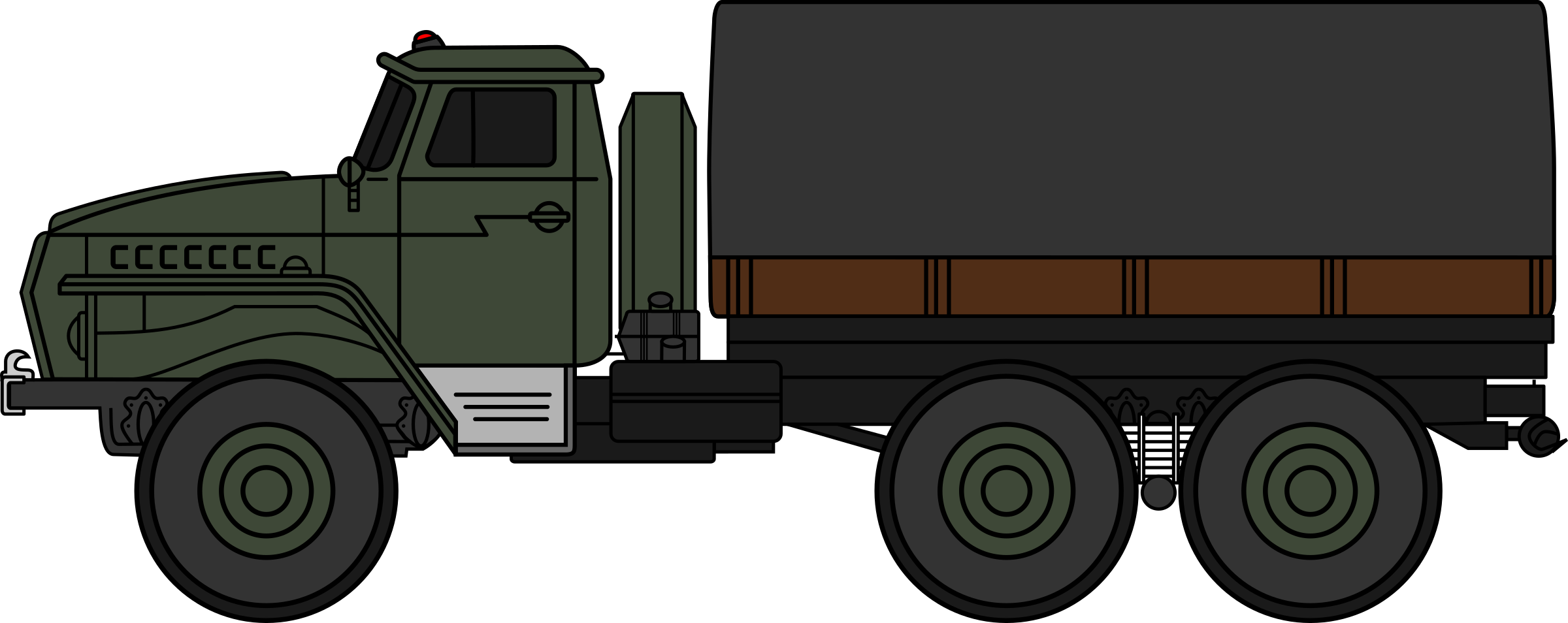Ural truck coloured big. Military clipart army fighting