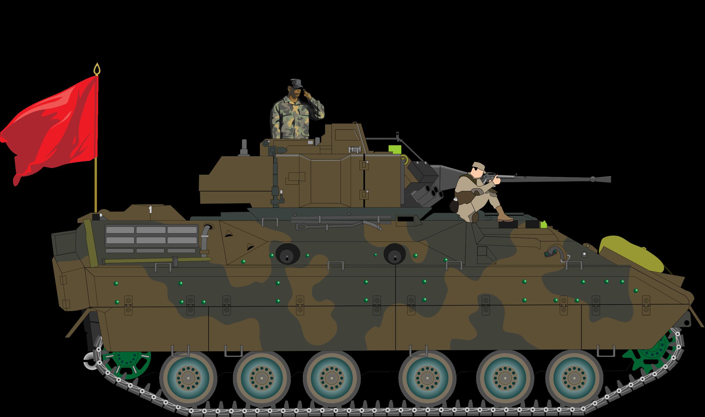 Bradley tank big image. Military clipart turret