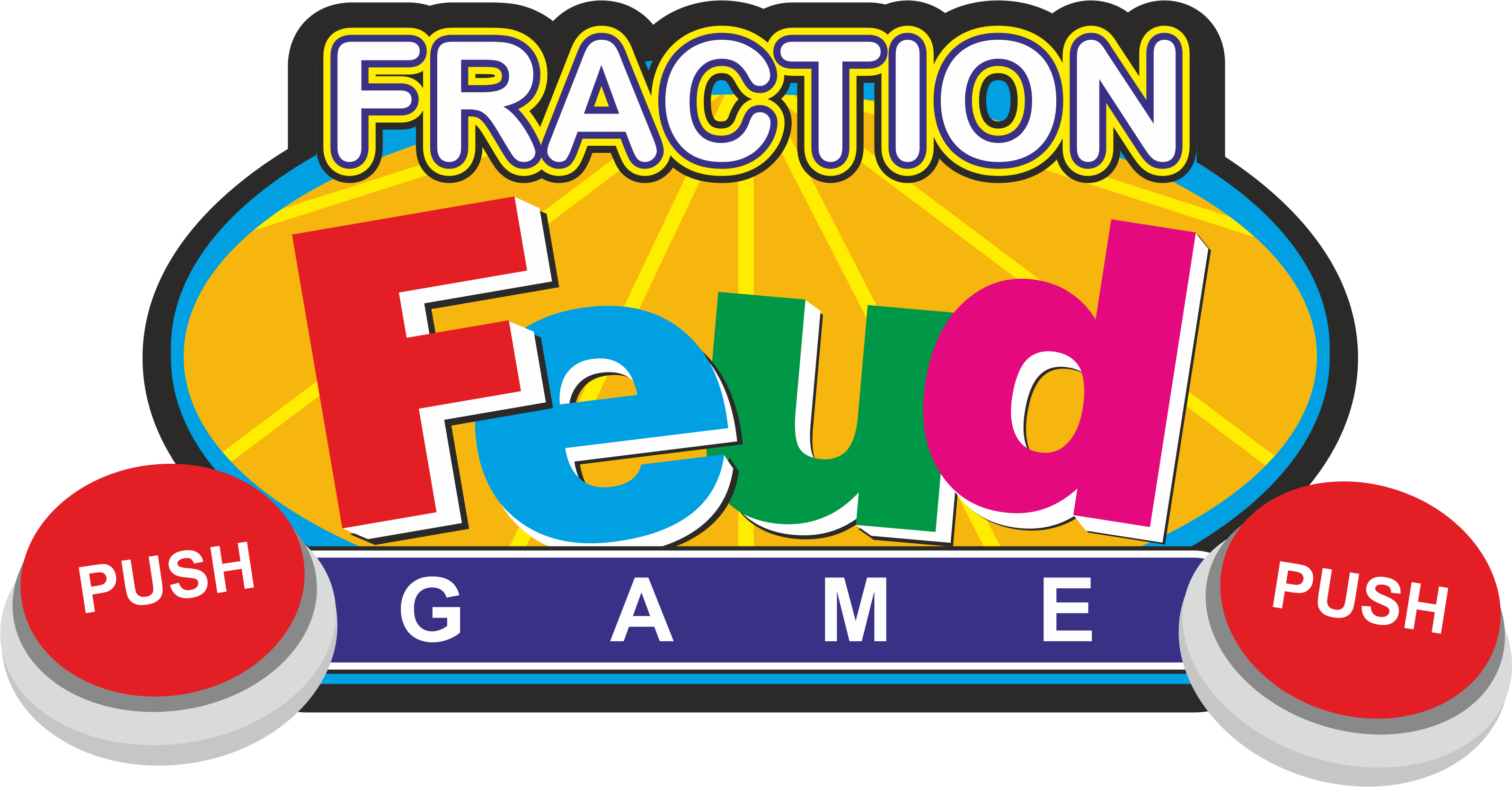 Feud comparing fractions game. Fraction clipart everyday use