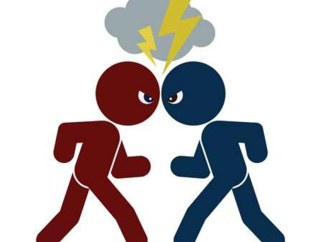Free download clip art. Fighting clipart feud