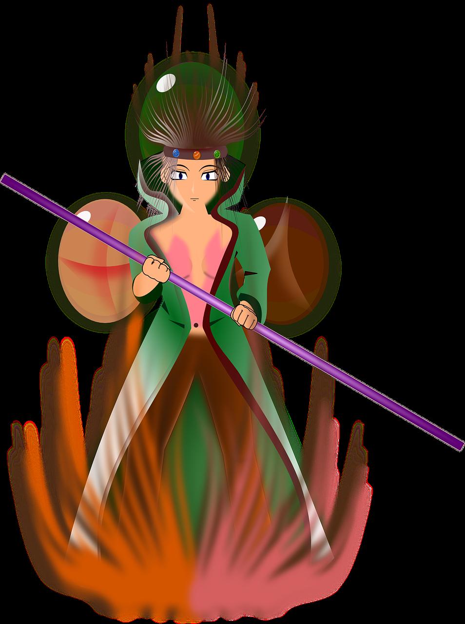 Fantasy fairy magic girl. Fight clipart fist fight