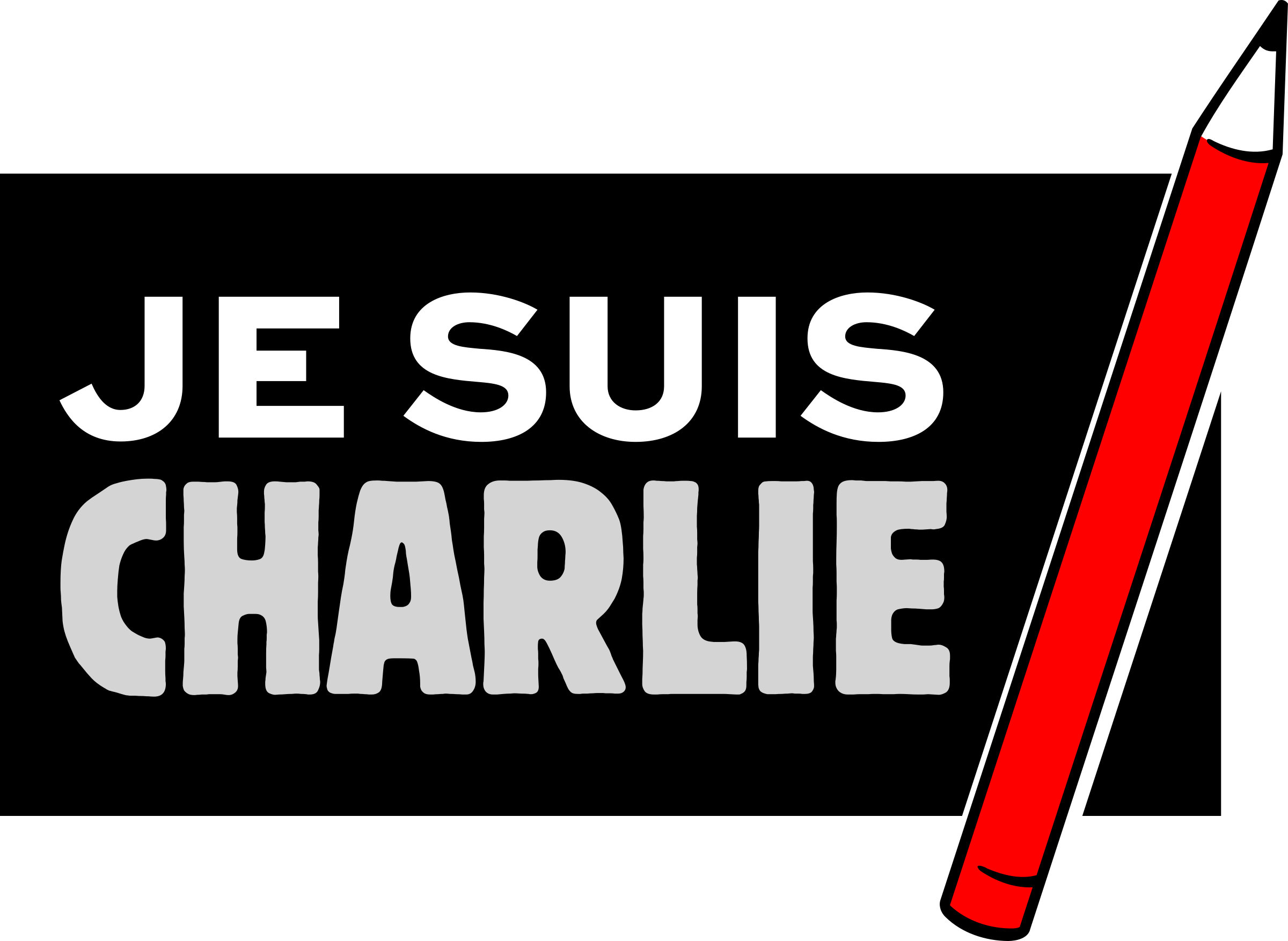 Je suis charlie of. Freedom clipart press