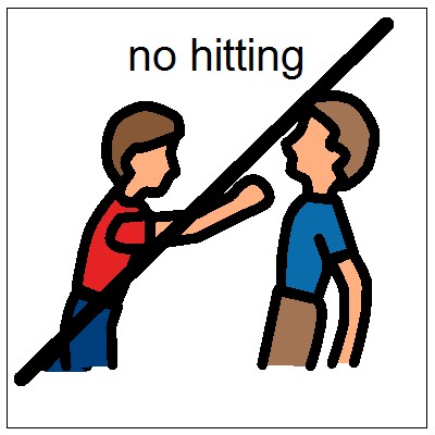 Fighting clipart hits. No hitting clip art
