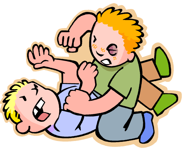 collection of children. Fighting clipart boys
