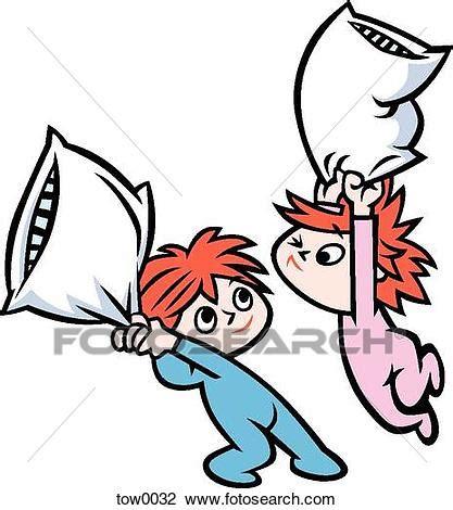 Fight clipart pillow fight. Clip art