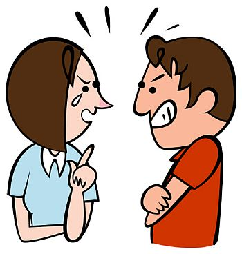 Matrimonial clip art library. Fight clipart quarrel