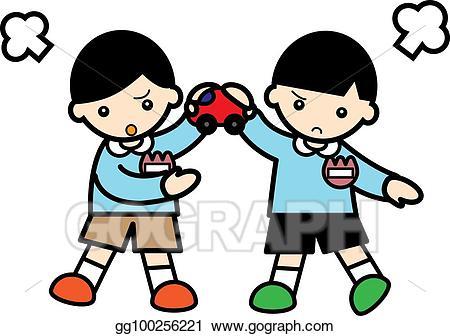 Fight clipart quarrel. Drawing children gg