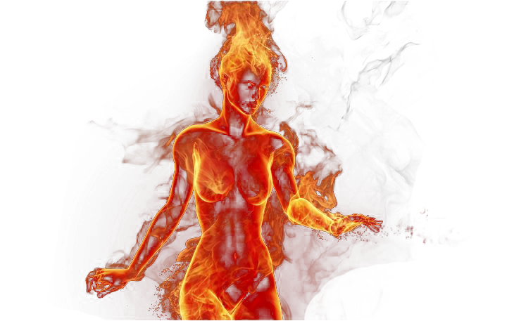 Fire clipart fire element. Png girl by katherinesdeath