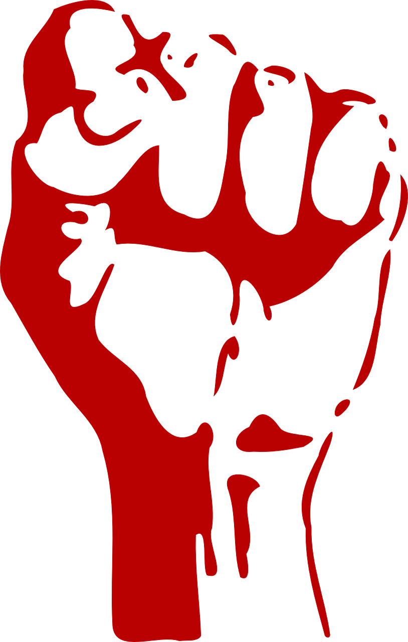 Fist power aggression red. Fight clipart school fight