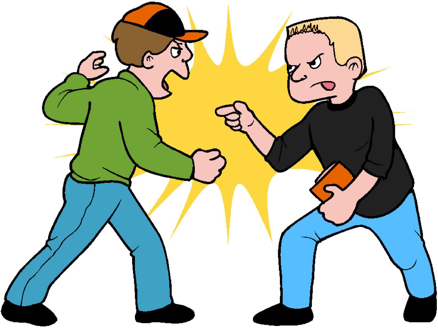 Chaz s daze fighting. Fight clipart school fight