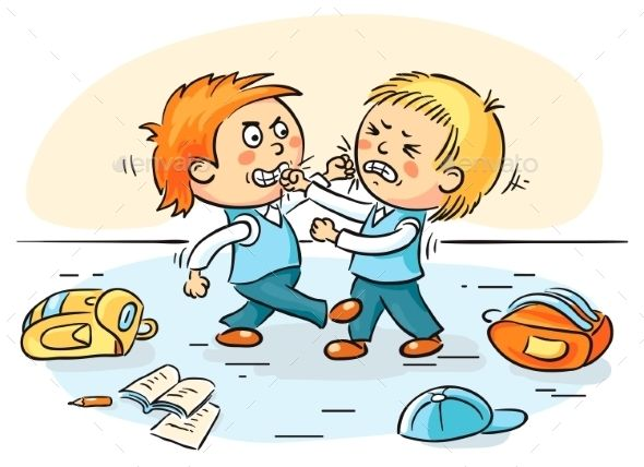 Fight clipart school fight. Two schoolboys are fighting