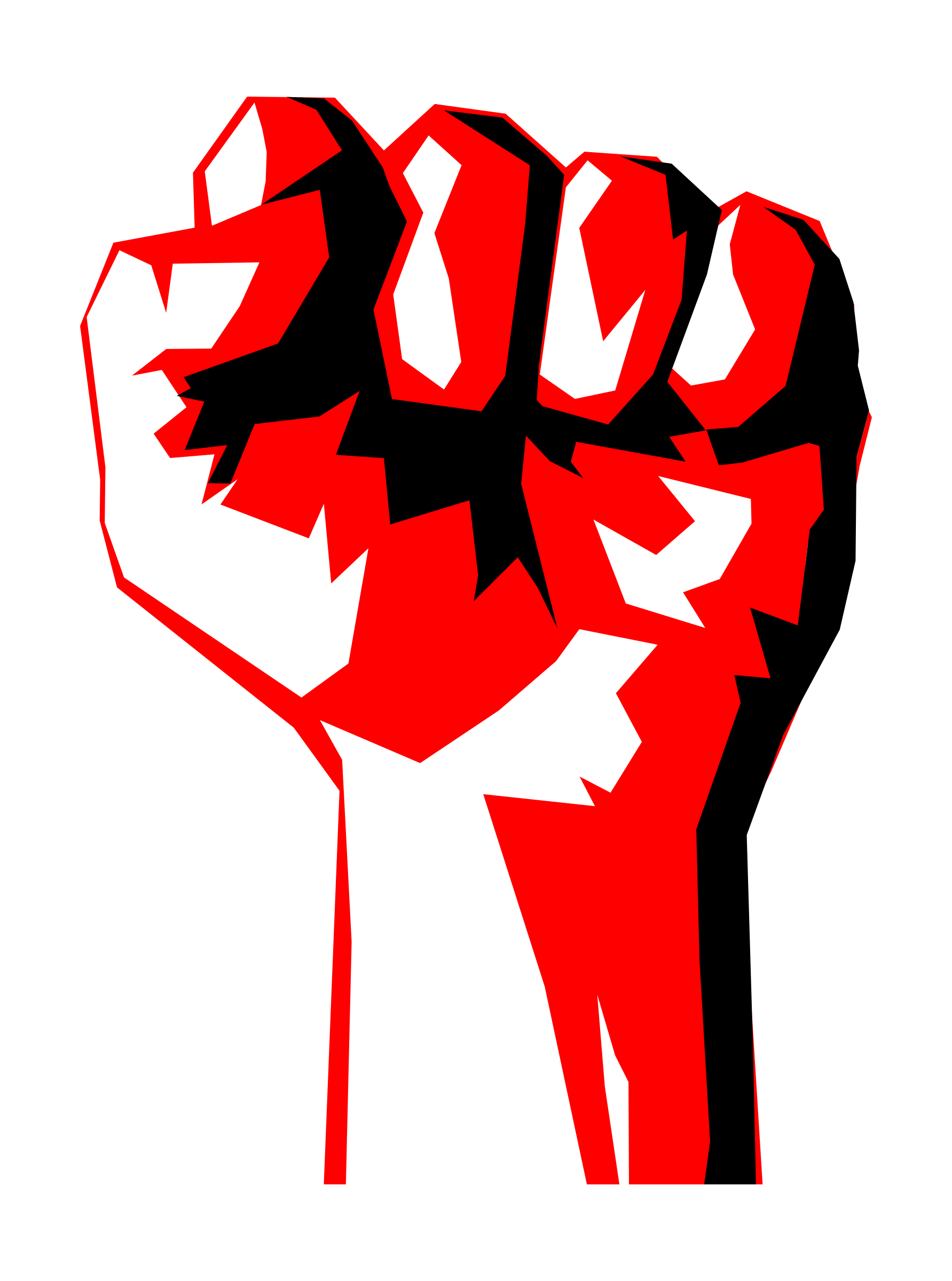 Worker fist big image. Fight clipart socialist